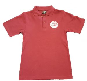 Maroon Polo Shirt with Logo