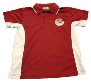 Maroon and White Polo shirt ( Quick Dry) $20.00